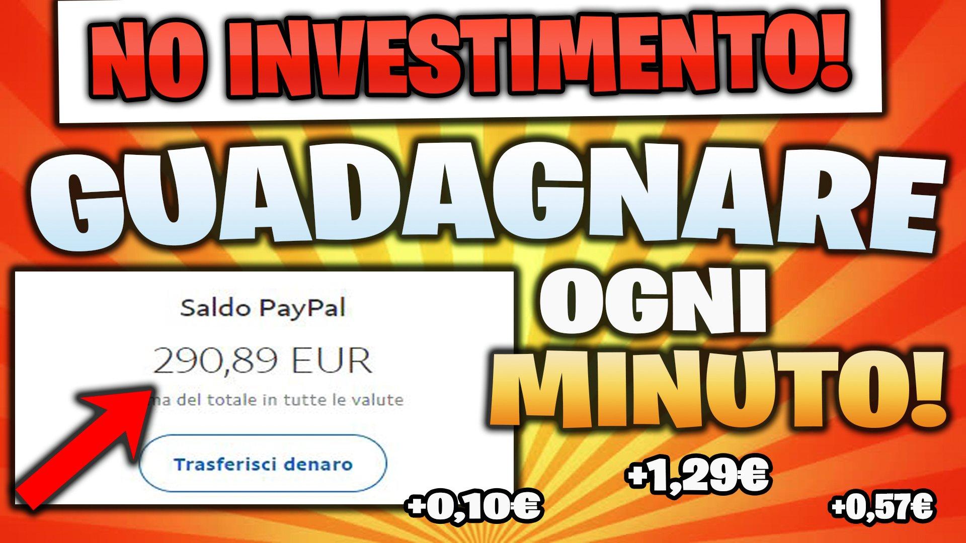 GUADAGNARE 1,29€ OGNI MINUTO!