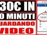 Guadagna 130€ in 1 Ora a Guardare Video