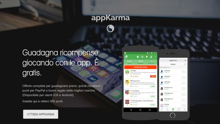 AppKarma guadagnare soldi scaricando app.