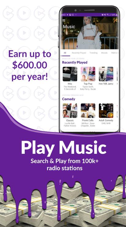 guadagnare soldi ascoltando musica