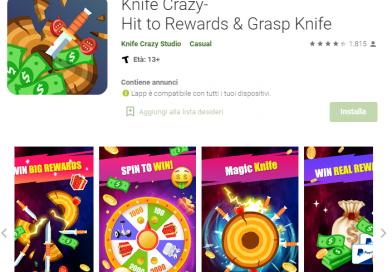 Knife Crazy – Fai Soldi con questa App!