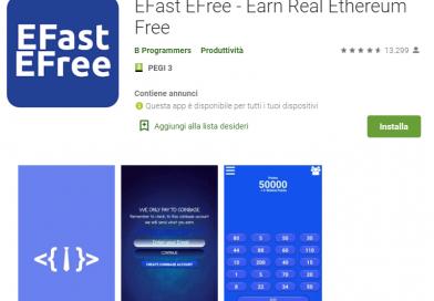 EFast EFree App per Guadagnare